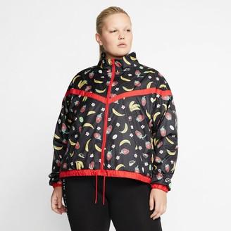 Nike Women's Sportswear Woven Fruit Print Wind Jacket (Plus Size)