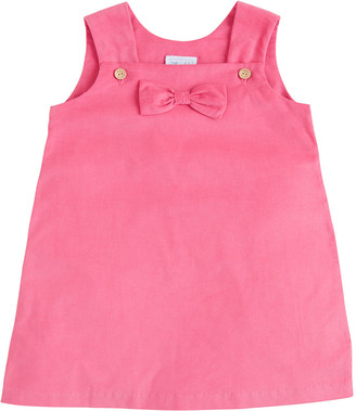 Little English Girl's Bow A-Line Overall Dress, Size 12M-8