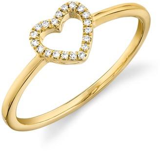 Ron Hami 14K Yellow Gold Diamond Heart Ring - 0.04 ctw - Size 7