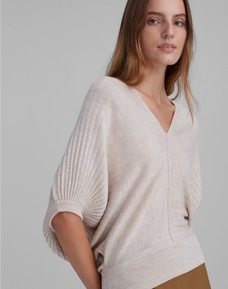 Club Monaco Quarter Sleeve V-Neck Sweater