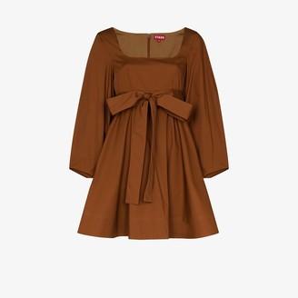 STAUD Isabella scoop neck cotton mini dress