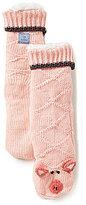 Jane & Bleecker New York Jane & Bleecker Pig Critter Slipper Socks
