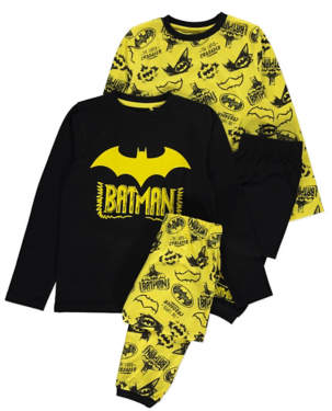 Batman George DC Comics Short Sleeve Pyjamas 2 Pack