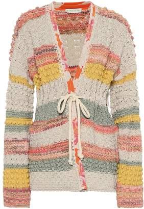 Etro Jacquard cotton and linen cardigan