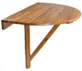 Braun Teak Balcony Table Longshore Tides