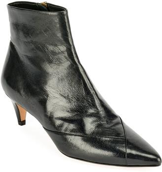Isabel Marant Durfee Leather Zip Booties