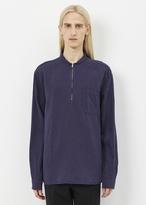 Our Legacy purple / blue shawl zip shirt