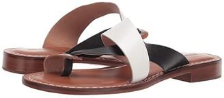 Bernardo Tia Sandal (White/Black/Luggage) Women's Sandals