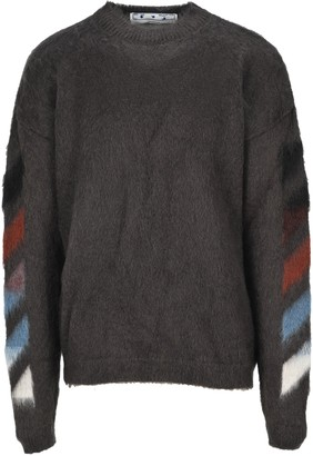 Off-White Diagonal Knitted Jumper