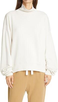 Frame Women's Organic Cotton Funnel Neck Sweatshirt