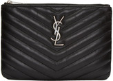 Saint Laurent Black Quilted Monogram Bag Pouch