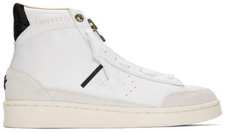 Converse White Ibn Jasper Edition Pro Leather Mid Sneakers