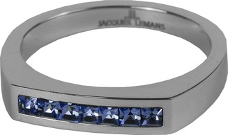 Jacques Lemans S-R50C58 Ring Solid Stainless Steel with Sparkling Swarovski Crystals Size 58 / Q1/2