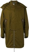 Oamc straps detail hooded coat - men - Cotton/Linen/Flax - S
