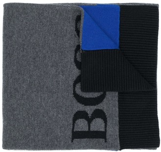 Boss Kids Logo Embroidered Scarf