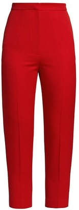 Alexander McQueen High Waist Slim Trousers