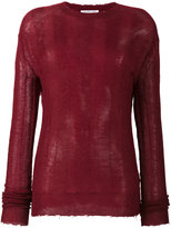 Helmut Lang distressed knitted jumper - women - Polyamide/Mohair/Wool - XS