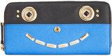 Calvin Klein Saffiano Leather Funny Face Zip Continental Wallet