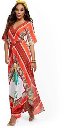 New York & Co. Mixed-Print Maxi Dress