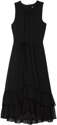 Calvin Klein Sleeveless Tiered Ruffle Midi Dress