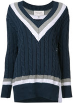 Public School cable knit V-neck jumper - women - Silk/Cotton/Nylon - XS