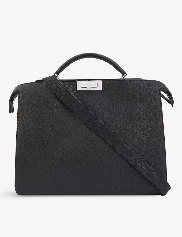Thumbnail for your product : Fendi Peekaboo ISeeU medium leather top-handle briefcase