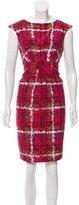 Carolina Herrera Abstract Print Silk Dress