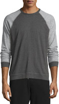 Rag & Bone Standard Issue Colorblock Raglan-Sleeve Shirt, Pewter