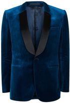 Topman Charlie Casely-hayford X Topman Teal Skinny Velvet Blazer