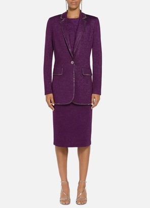 St. John Milano Knit Notch Collar Jacket