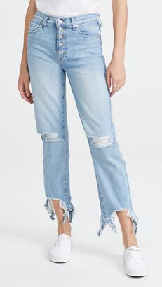 High Waist Crop Straight Jeans