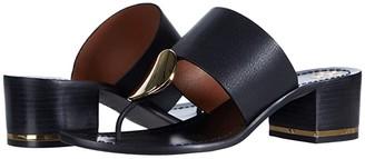 Tory Burch 45 mm Patos Disk Sandal (Perfect Black) Women's Shoes