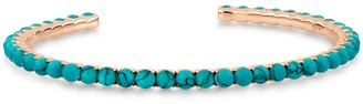 ginette_ny Maria Open Turquoise Cuff Bracelet - Rose Gold