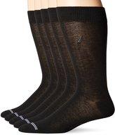 Nautica Men's Solid 5 Pack Dress Sock