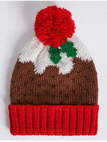 M&S Collection Christmas Pudding Hat
