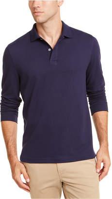 Club Room Men Long-Sleeve Heathered Polo Shirt