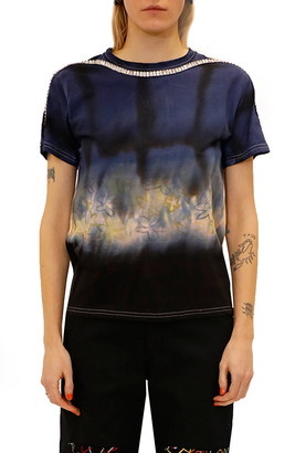 Collina Strada Sporty Spice Embellished Mixed Print T-Shirt