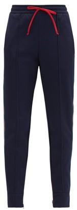 Gucci Web-stripe Jersey Track Pants - Navy