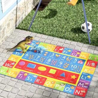 """Pierce Multicolor Indoor/Outdoor Area Rug Zoomie Kids Rug Size: Rectangle 5' x 6'6"""""""