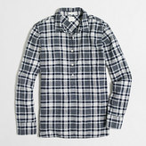 J.Crew Factory Petite homespun popover shirt in boy fit