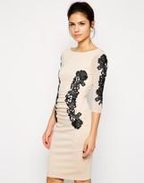 Lipsy Lace Panel Body-Conscious Dress