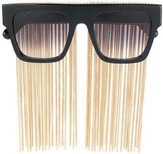 Stella Mccartney Eyewear Chain Fringe Sunglasses