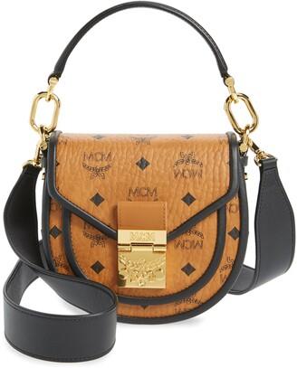 MCM Patricia Visetos Coated Canvas Crossbody Bag