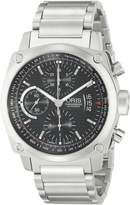 Oris Men's 4154MB BC4 Chronograph Stainless Bracelet Black Dial Watch