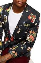 Topman Skinny Fit Floral Print Sport Coat