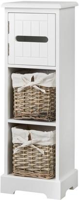 Lloyd Pascal Burford Ready Assembled Painted Narrow Bathroom Storage Unit - White