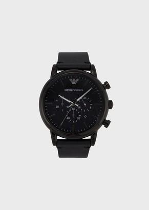 Emporio Armani Man Leather Cronograph