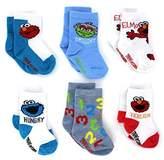 Sesame Street Baby 6 pk Socks (0-6M, )
