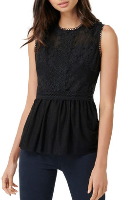 Forever New Paloma Lace and Dobby Spot Tank