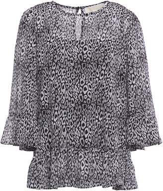 MICHAEL Michael Kors Layered Printed Georgette Blouse